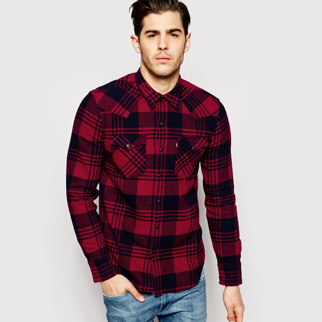 Levis Flannel Shirt and Pants